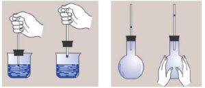 Tại sao quả bóng bàn đang bị bẹp khi nhúng vào nước nóng lại có thể phồng lên?