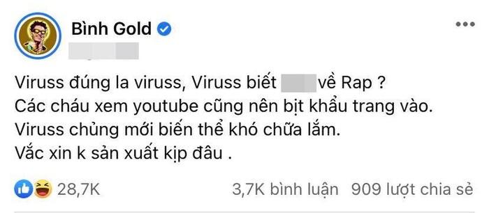 khẩu chiến bình gold và viruss