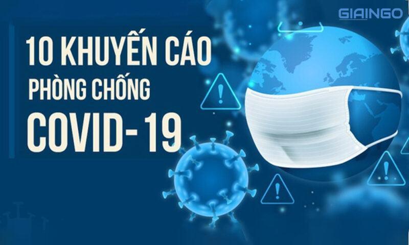 10 khuyến cáo của Bộ Y tế về phòng chống dịch