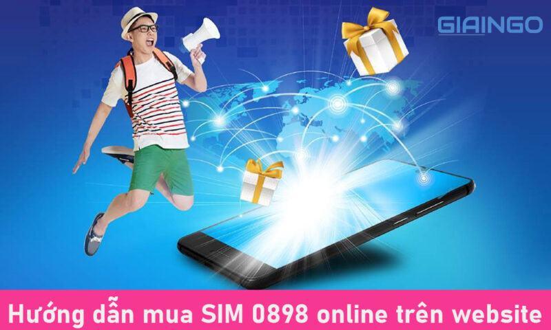 Hướng dẫn mua SIM 0898 online trên website
