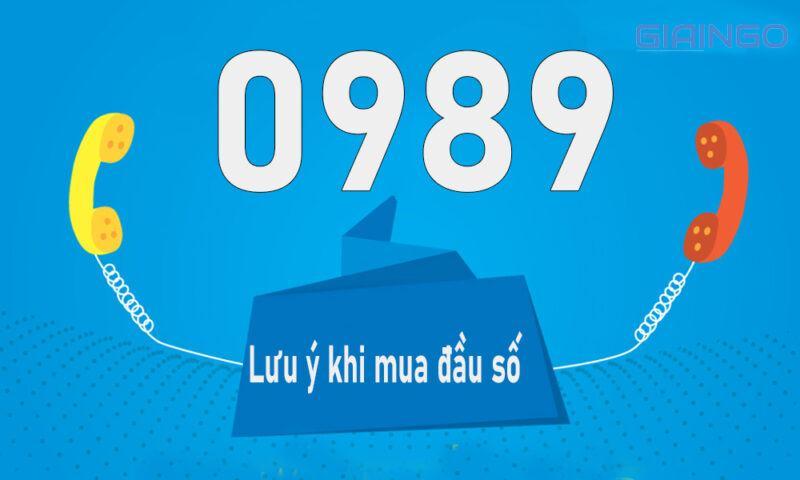 Lưu ý khi mua đầu số 0898