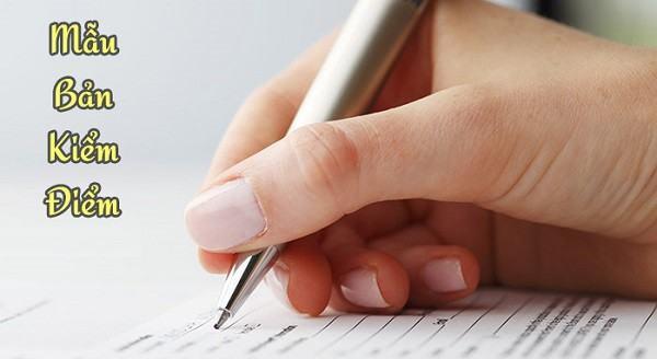 Cách viết bản kiểm điểm