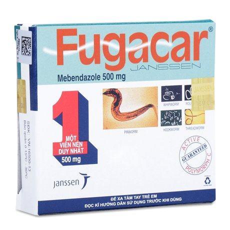 thuốc tẩy giun Fugacar uống lúc nào