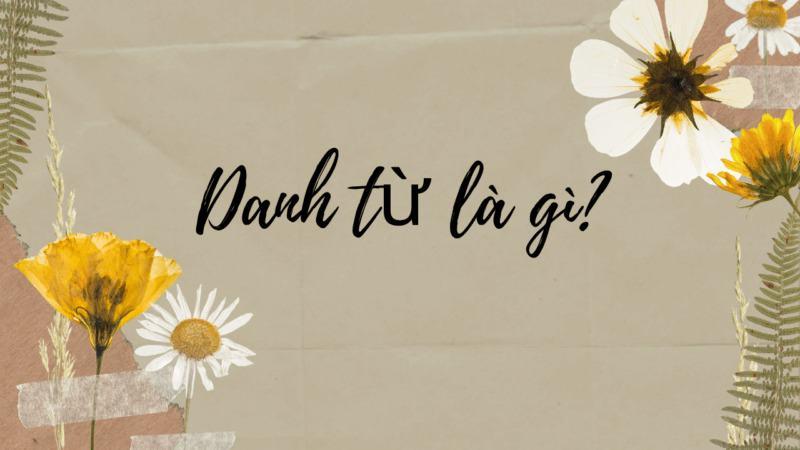 Danh từ là gì? Những loại danh từ trong Tiếng Việt