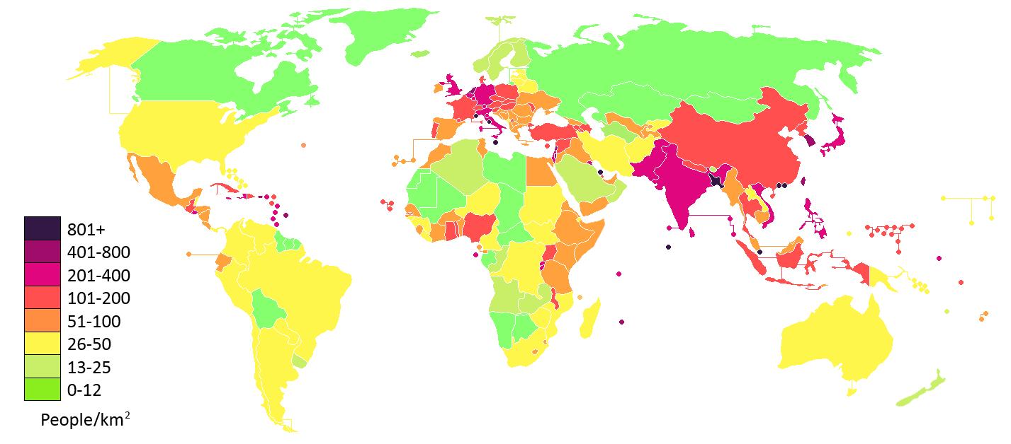 cách tính mật độ dân số
