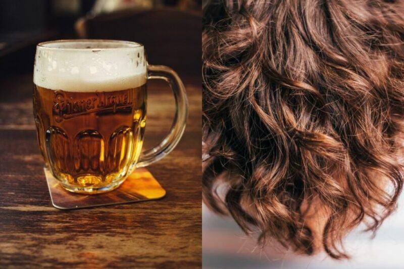 cách gội đầu bằng bia