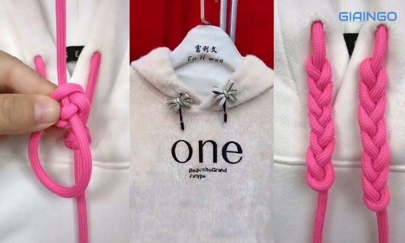 Cách thắt dây áo hoodie