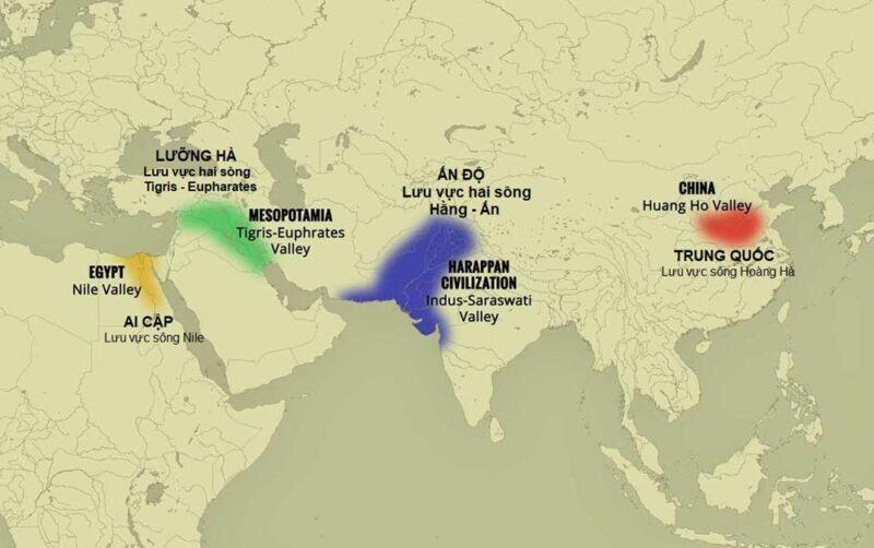 Các quốc gia cổ đại phương Đông đã được hình thành ở đâu và từ bao giờ?