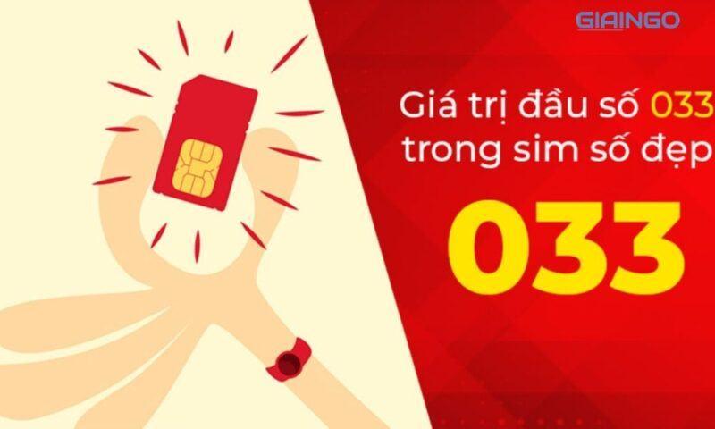 Có nên mua SIM số đẹp đầu 033 không?