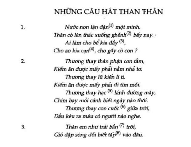 soan bai nhung cau hat than than