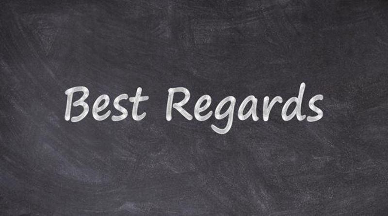 Best regards là gì?
